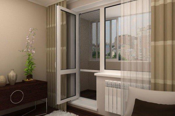 Балконные двери ПВХ Дверь с сэндвич-панелью
