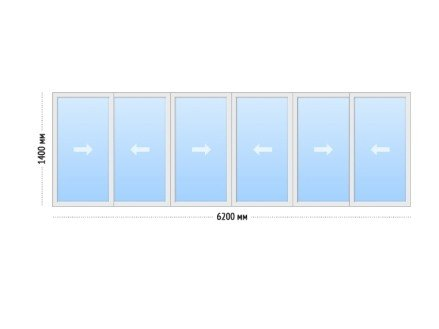 Лоджия отделка под ключ - цена Лоджия И-700а 6-ти метровая