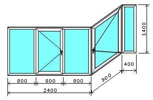 Лоджия П-3 «Сапожок» остекление алюминием
