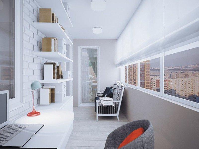 Современная отделка балкона под ключ