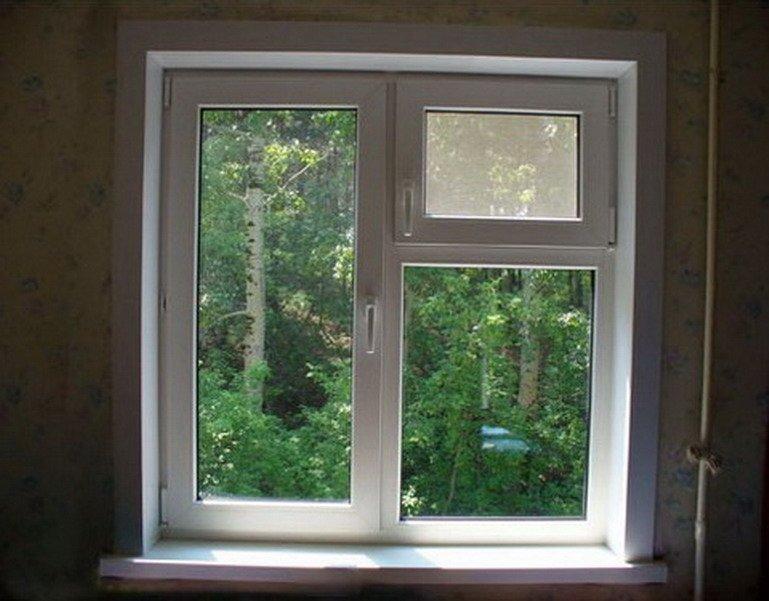 Пластиковые окна с форточкой в квартиру