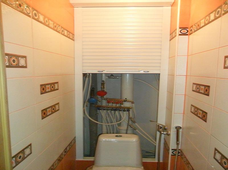 Белые роллеты для туалета