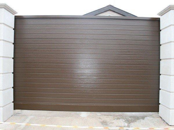 Купить секционные въездные ворота для дома в МО