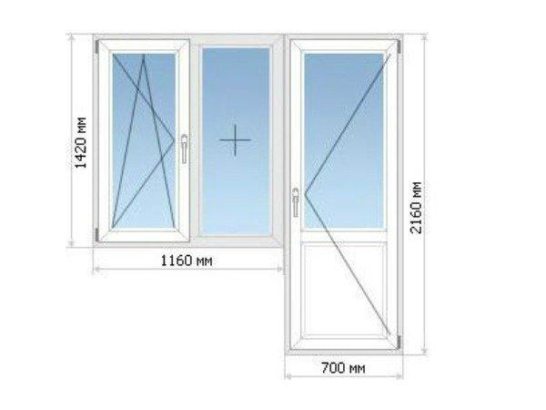 Окно П44 остекление балкона