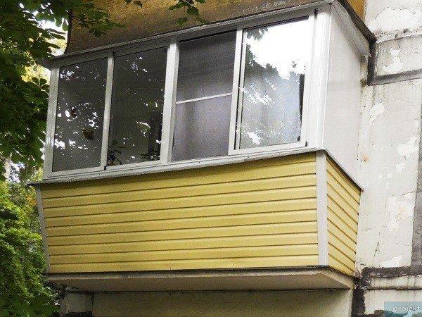 Остеклить балкон с выносом