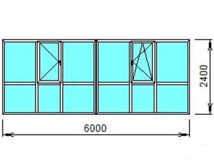 Панорамная лоджия 6 метров