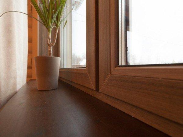 Цветные окна ПВХ ламинирование