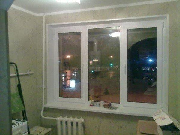 Акционное ПВХ окно в хрущевку
