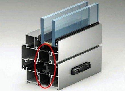 Профиль для теплого алюминиевого остекления
