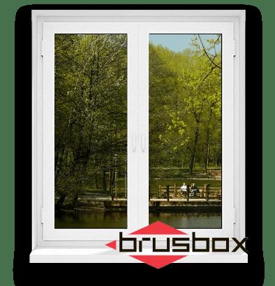 Двустворчатые окна Брусбокс