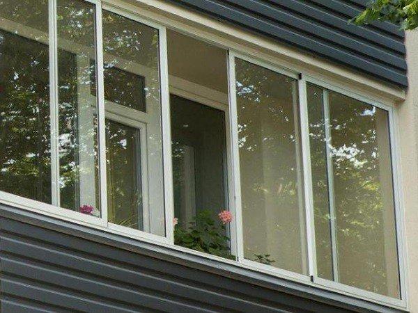 Остекление балкона алюминием холодное