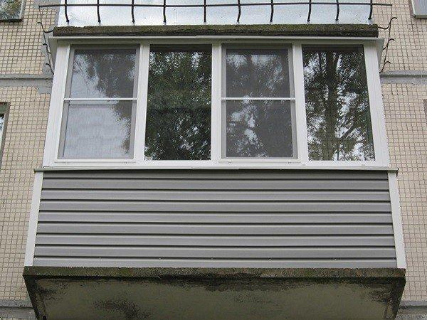 Пример остекления балкона хрущевки