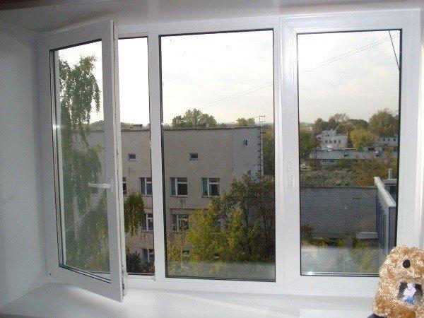 Замененное пластиковое окно