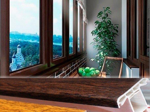 Застеклить балкон пластиковыми окнами «под дерево»