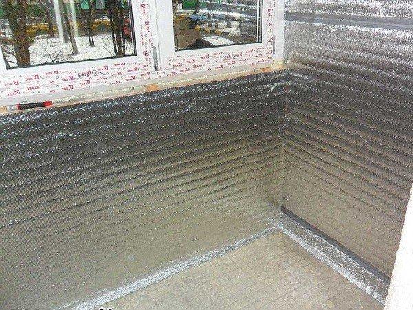 Отделка и утепление балкона пенофолом