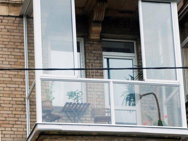 Балконные двери ПВХ французское остекление