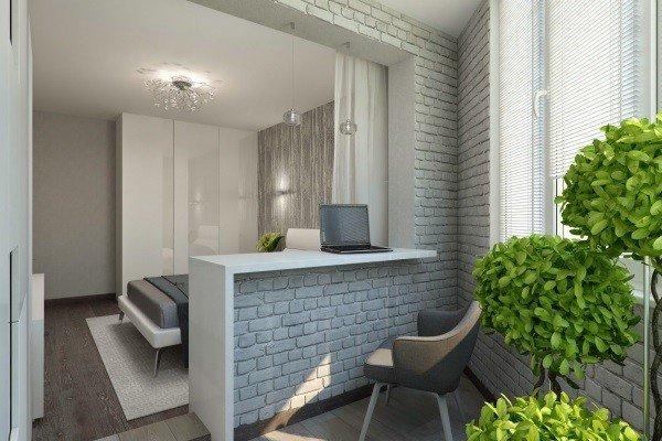 Объединение балкона и комнаты с сохранением стандартного проема
