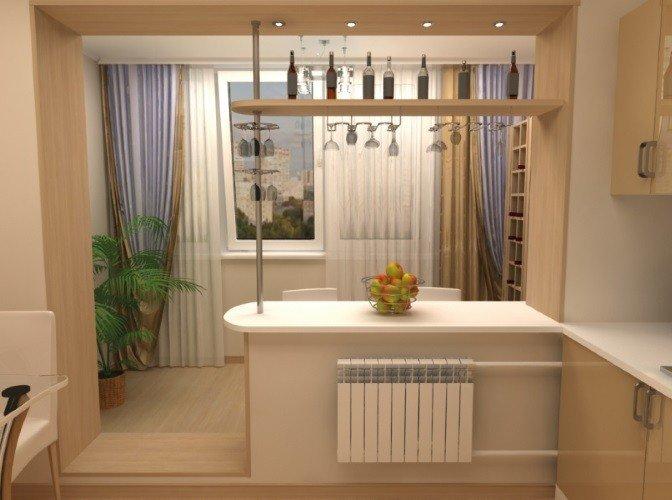 Объединение балкона или лоджии с комнатой
