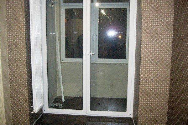 Объединение балкона с установкой французской двери