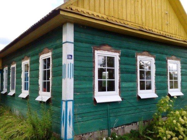 Окна ПВХ с расклакой в частном доме