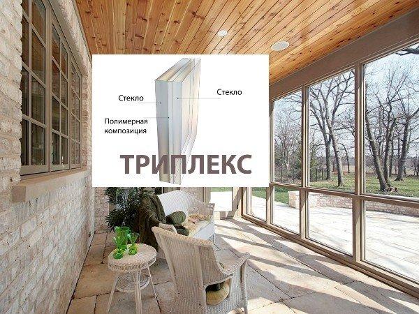 Окна от пола до потолка триплекс стекла