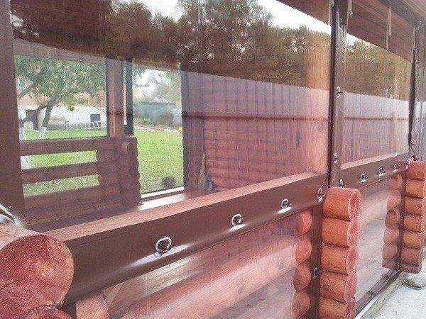 ПВХ шторы для террас недорого