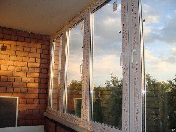 Окна без монтажа ПВХ для балконов