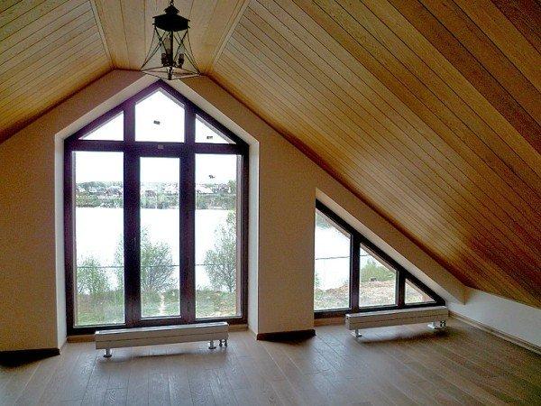Окна от пола до потолка полутеплое остекление