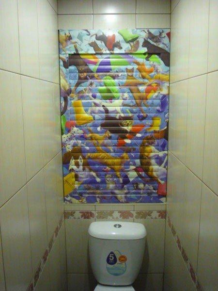 Ролл ставни в туалет с фотопечатью