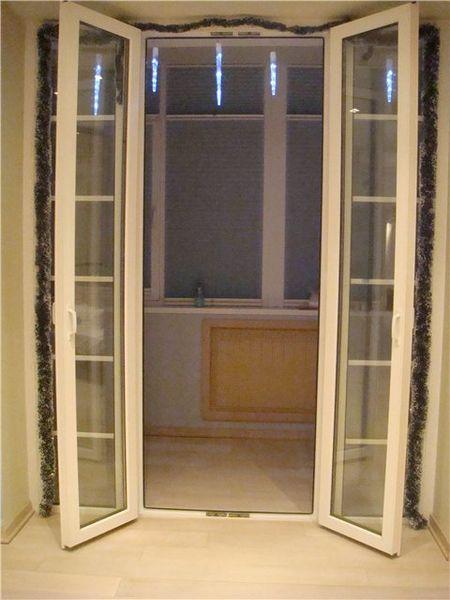 Штульповая дверь на лоджию