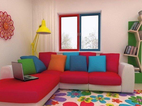 Цветное окно в детскую