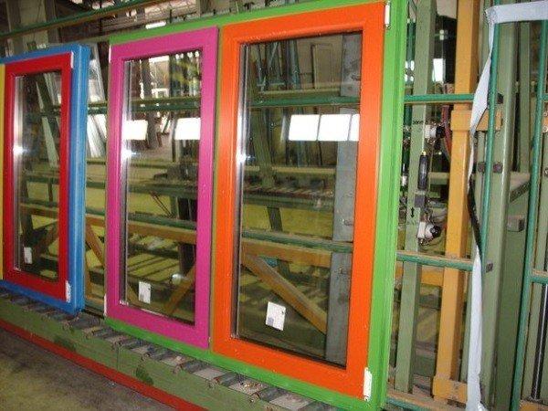 Цветные окна ПВХ без установки