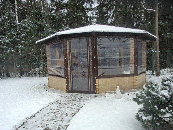 Зимние окна для беседок ПВХ