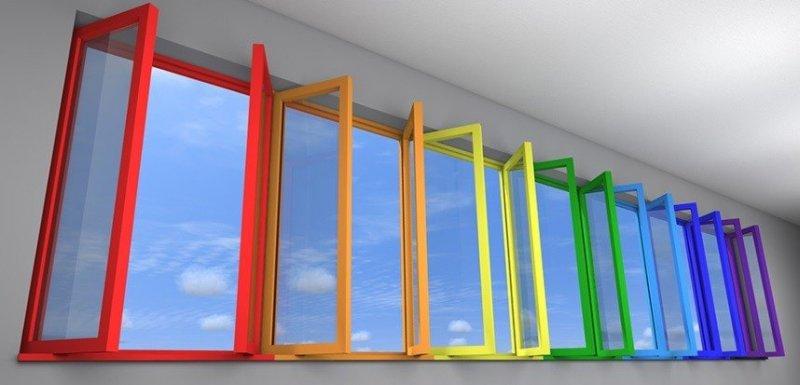 цветные ламинированные окна