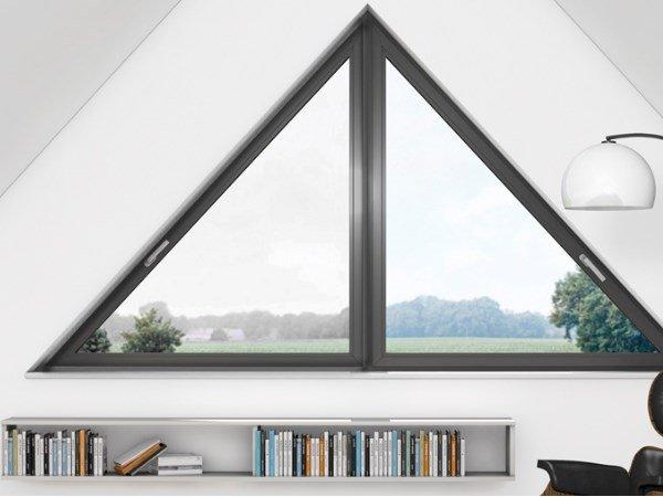 Треугольные окна от производителя