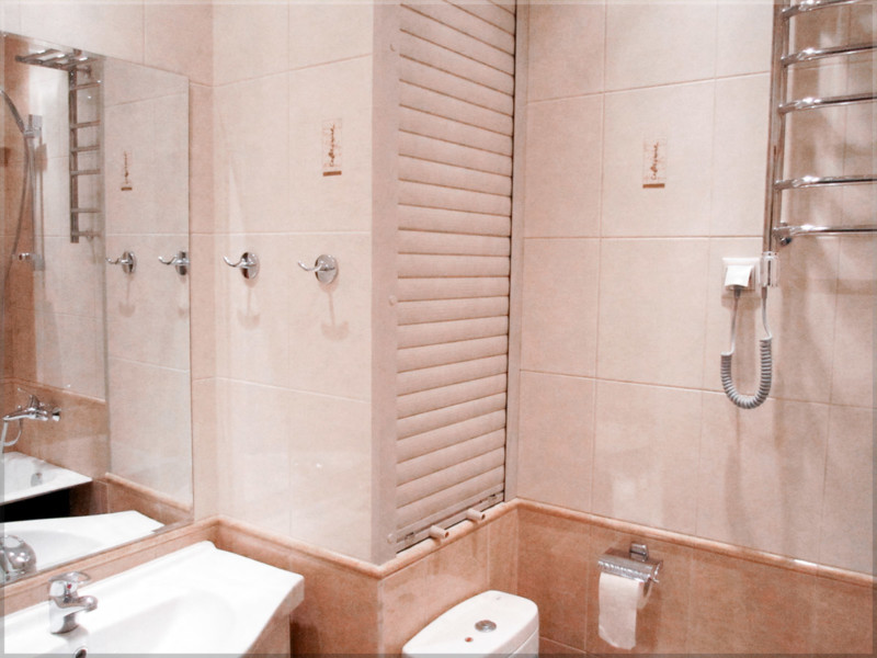 Шкаф в туалет с рольставнями
