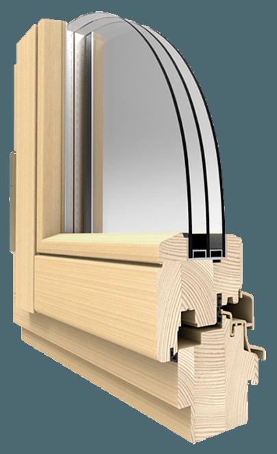 Окна из сосны внешний вид