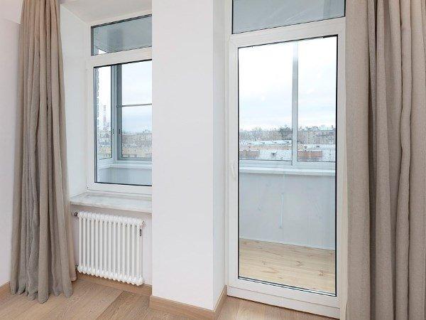 балконные двери прозрачные