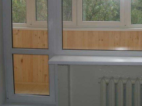 балконные двери с перемычкой