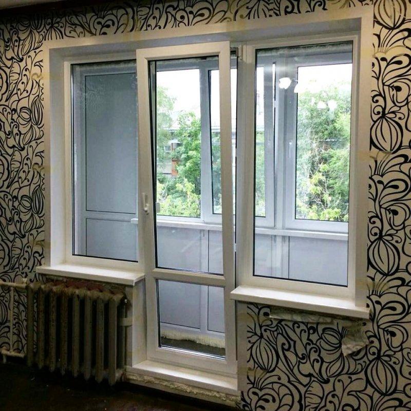 """Замена балконного блока """"чебурашка"""" на французское окно"""