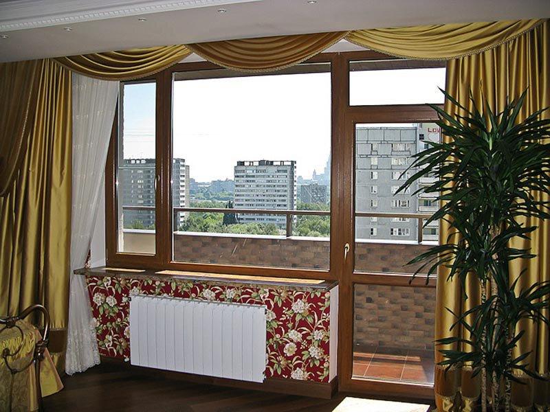 Замена пластикового балконного блока с ламинацией
