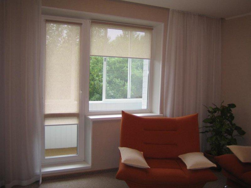 Замена балконной двери с оконным блоком