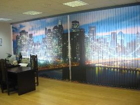 вертикальные жалюзи с фотопечатью в офис