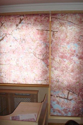 рулонные жалюзи с фотопечатью на балконный блок