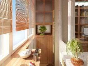 Жалюзи на балконную дверь в квартире
