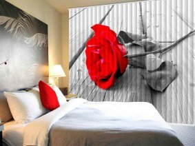 вертикальные жалюзи с фотопечатью в спальню