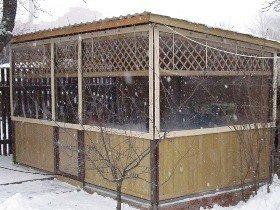 Морозоустойчивые шторы ПВХ для террасы