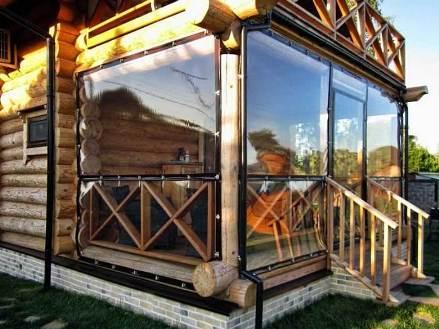 Мягкие окна на веранде