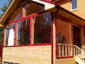 Мягкие рулонные окна для веранды