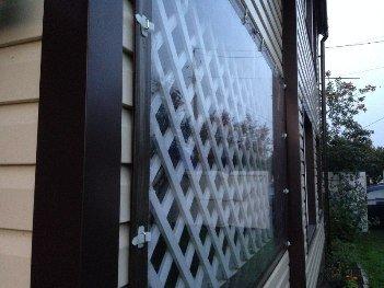 Мягкие рулонные окна крупным планом